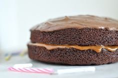 chocolate cake with salted caramel filling