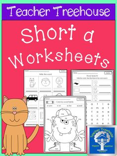 This has 11 engaging worksheets and activities to practice short a. Great for centers, morning work, RTI, and homework!