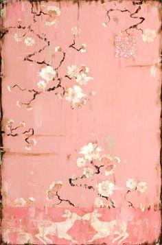 pink oriental artwork, Kathe Fraga