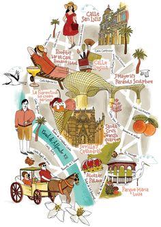 Seville Map - runningforcrayons