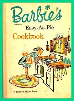 Barbie's Vintage Cookbook Via http://www.cookinggamesonline.us/games/barbie-cooking-games/ #Barbie #Cooking #Games