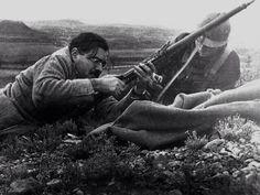The Spanish Civil War (1936) Ernest Hemingway develops Mosin rifle in the Battle of Teruel