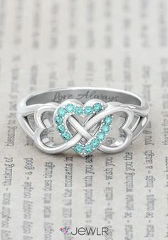 Personalized Triple Heart Infinity Ring!