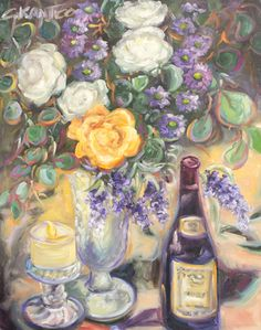 Candlelight Soiree by tetrachromat Concetta Antico   http://i1.wp.com/concettaantico.com/wp-content/uploads/2014/04/candlelight-soiree-24x30.jpg