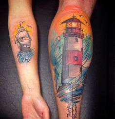 Lighthouse Tattoo Design by Szabi