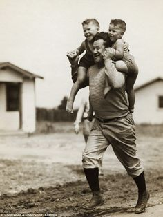 Jim Thorpe with his boys