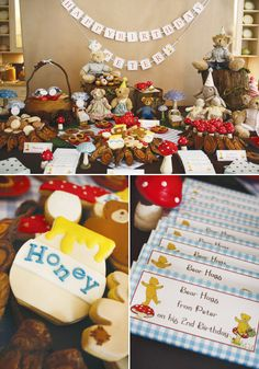 Teddy Bear Picnic Birthday Party {Inspired by the Book} BEST KIDS PARTY EVER...if  I have the cash, my kids will have parties like this. Perfect enough to puke.