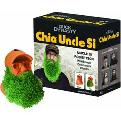 Chia Planter: Willie or Si, popular Duck Dynasty characters. Watch the beard grow. Hand crafted porous clay planter. Simply fill the hollow planter with water, spread the Chia seeds on the outside surface of the planter and watch it grow. Redeem for 100,000 points!