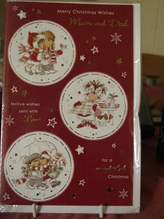 Merry Christmas Wishes Mum and Dad Christmas Card by AnnettesCardsandGift on…