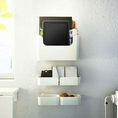 15 Pluggis Storage Solutions from IKEA Laptop Storage, Ikea Storage, Storage Spaces, Baking Storage, Wall Storage, Ikea Furniture, Cool Furniture, Modern Furniture, Furniture Design
