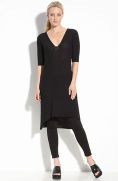 eileen fisher; love a dress with leggings