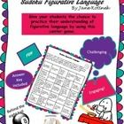 Included are 6 Suduko style Figurative Language worksheets (Personification, Idioms, Metaphors, Similes, and Hyperbole).    Use these Sudoku cards to reinforce the understanding of figurative language.  Students will practice their understanding of metaphors, similes, personification, and hyperbole using this engaging activity.