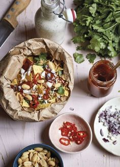Learn to make chaat - the street food snack popular across India, Pakistan and Bangladesh - with this easy recipe from Nadiya Hussain's Family Favourites book. Best Vegetarian Recipes, Curry Recipes, Snack Recipes, Snacks, Goan Recipes, Healthy Recipes, Veggie Recipes, Easy Recipes, Healthy Food