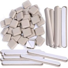 Liyic 64 Pack 1in.Square Self-Stick Carpet Gliders for Chair-Self Adhesive Furniture Glides-Furniture Moving Slider-Slider for Furniture-Carpet Slider-Furniture Slider-Chair Glider