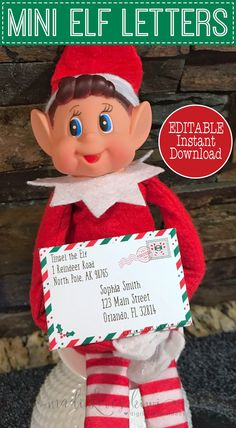 Most recent Free of Charge Editable Mini Elf on the Shelf Letters with Matching Envelopes Tips Your kids will love getting mini Elf Mail from their Elf on the Shelf! You get 3 different designs Elf Christmas Decorations, Christmas Elf, Christmas Crafts, Christmas Countdown, Elf On The Self, The Elf, Dollar Tree Elves, Elf Letters, Elf On Shelf Letter