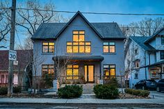 From the outside, this house looks so suburban. With a boring beige exterior you'd never know inside is a wonderfully modern and beautifully design. Summer Pool Party, Big Windows, Selling Real Estate, When I Grow Up, Open Concept, Master Suite, Toronto, Beach House, Condo