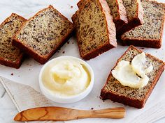 Momma Callie's Banana Nut Bread with Honey Butter Recipe : Patrick and Gina Neely : Food Network