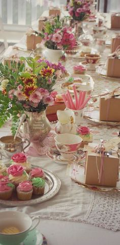 Tea party table scape