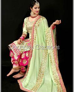 Designer Punjabi Suits, Indian Designer Wear, Punjabi Fashion, Indian Fashion, Pakistani Outfits, Indian Outfits, Saris, Patiala, Salwar Kameez
