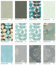 """Sherwin Williams now has more than 5000 patterns of """"Easy Change"""" wallpaper (i.e., temporary, removable, """"renter's"""" wallpaper). Browsable by Big Sunshine"""