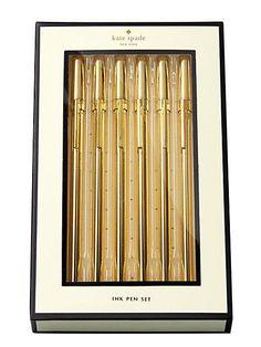 Gold Pens   Office Supply   Kate Spade   Maison De Montaigu