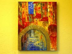 Old City Original Abstract - Free Shipping