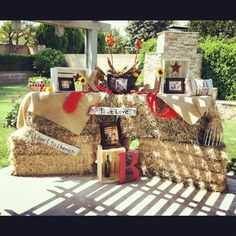 country bridal shower decor-maybe not exactly like this, but you could do something similar if you had an outdoor couples shower
