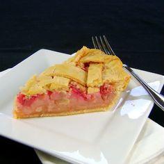 Fannie Farmer - Rhubarb Custard Pie