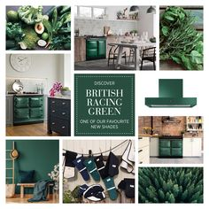 We're thrilled to be reintroducing the iconic British Racing Green shade as a colour option across most of the AGA model range.  Dark greens are a massive interiors trend right now and it's a colour that works brilliantly with natural wood, white interior schemes and with painted kitchen cabinetry. It also works beautifully with copper, other metals and houseplants. Green Color Schemes, Green Interiors, Green Wall Color, Wall Color Schemes, Dark Green Kitchen, House Colors, Dark Interiors, Green Painted Walls, Scandinavian Kitchen Design