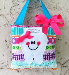 Tooth Fairy Pillow Michael Miller stripe Ready by Mimisartistree, $8.50