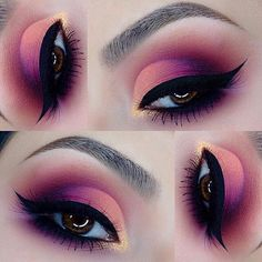 (royallangnickel) on Sorbet swirl of beautiful colors by _claudiayvette that she created with her Makeup Eye Looks, Beautiful Eye Makeup, Cute Makeup, Pretty Makeup, Perfect Makeup, Drag Makeup, Makeup Art, Beauty Makeup, 80s Makeup
