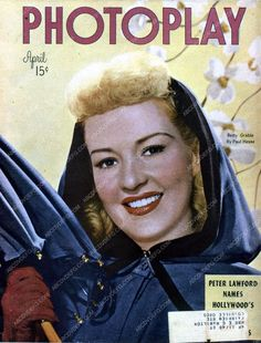 Betty Grable Photoplay magazine cover 35m-4562