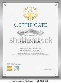 Vector Art  Certificate Of Achievement Template In Vector Gold