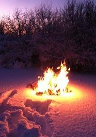 Image result for images of winter bonfires