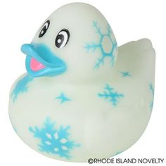These Snowflake Duckies are as unique as their namesake. With pretty snowflake and blue colors, these ducks are perfect for your next ice princess or winter Wonderland-themed party. 3 assorted styles. #SNOWFLAKE #RUBBER #DUCKS #partyplanning #Christmas #holidays