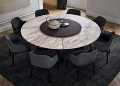 Some Of The Most Elegant Round Dining Room Tables 2019 Dining Room Table Dining Elegant Room tables Large Round Dining Table, Round Marble Table, Circular Dining Table, Square Dining Tables, Round Tables, Table Ronde Design, Dining Table Design, Contemporary Dining Table, Dining Chair
