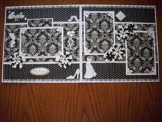 Premade Bridal Wedding Album Scrapbook Pages by TinksTableScraps, $150.00