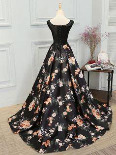 Stylish A line lace long prom dress,evening dress,formal dresses - Thumbnail 3 Black Evening Dresses, Cheap Evening Dresses, Black Prom Dresses, A Line Prom Dresses, Cheap Prom Dresses, Modest Dresses, Elegant Dresses, Homecoming Dresses, Beautiful Dresses