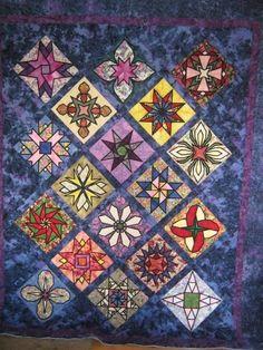 Stained Gl Garden Stars Quilt Stunning