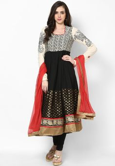 Biba Black Cotton Anarkali Suit Set @ http://www.jabongworld.com/black-cotton-anarkali-suit-set-1021089.html