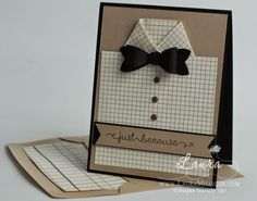 I created a video to show how to make this cute shirt card, masculine card, diy shirt card, for details click through to my blog
