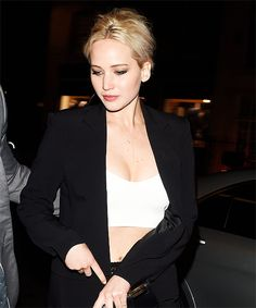 Jennifer Lawrence leaving Sexy Fish Restaurant on May 8, 2016.