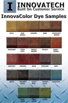 Concrete Dye Color Chart From Ameripolish Features  Vivid Colors