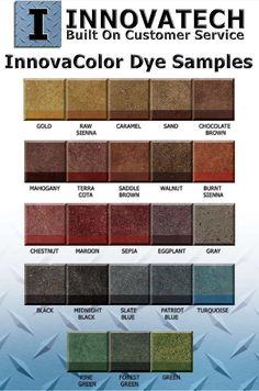 11 Best Concrete Dye Color Charts images   Concrete dye, Decorative ...