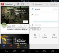 Google+ para Android estrena nueva bandeja de notificaciones y permite adjuntar enlaces