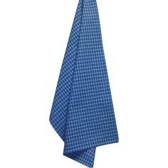 "Windowpane Tea Towel 20""X28""-Cream & Provencial Blue"