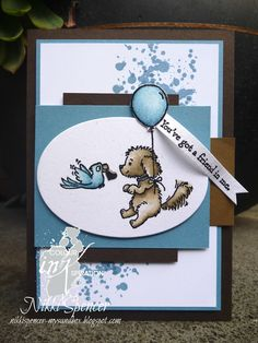 Over at Colour INKspiration we have a lovely new colour combination to create with. Have you just come from the lovely project c. Dog Cards, Kids Cards, Card Making Inspiration, Making Ideas, Scrapbook Cards, Scrapbooking, Umbrella Cards, Pet Sympathy Cards, Friendship Cards