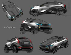 Crossback EV sketches&prototype 2014 on Behance