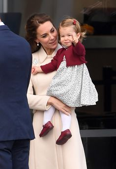 Catherine, Duchess of Cambridge and Princess Charlotte depart Victoria after the Royal Tour of Canada at Victoria Inner Harbour on October 1, 2016 in Victoria, Canada.