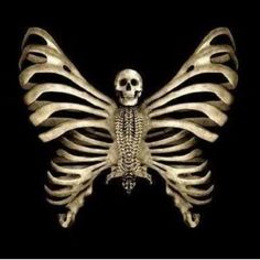 Skull butterfly...this would be a sick tattoo!